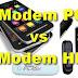 Kecepatan modem PC vs Modem dari HP
