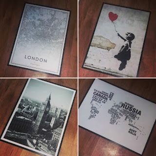 Updating My Wall Art With Framed Posters - Banksy, London, Maps