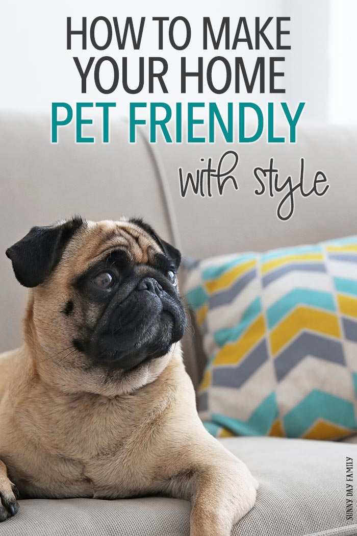 Make your house pet friendly without sacrificing your style! Easy tips to incorporate your pet's things into your home, including ways to hide the litter box, super cute pet toy storage, pet food storage ideas, and more!
