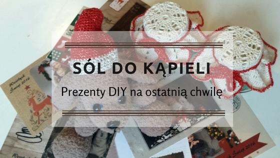 Sól do kąpieli - Prezenty DIY na ostatnią chwilę - nagłówek