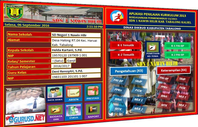Aplikasi Penilaian Kurikulum 2013 Sd Edisi Revisi Permendikbud 53 Tahun 2015 Kurikulum 2013 Revisi