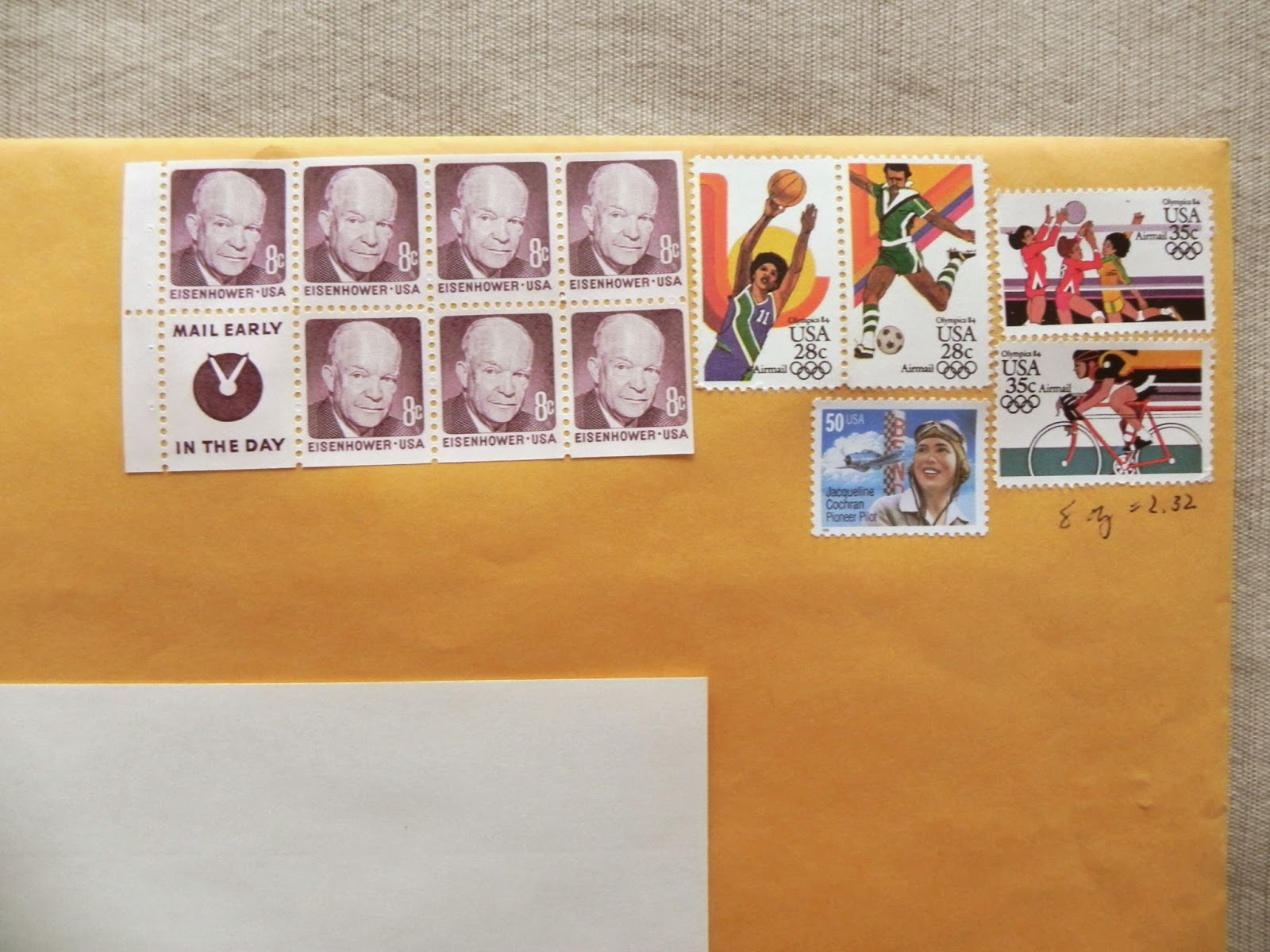 how many stamps does a letter sized envelope need