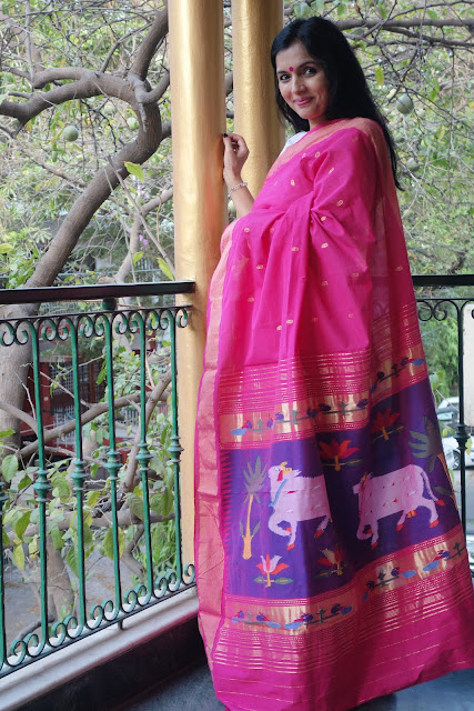 buy Pichwai Paithani saree