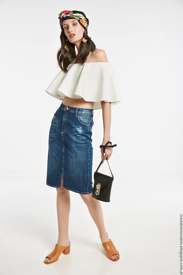 Blusas de moda primavera verano 2017 ropa de mujer marca argentina María Cher.