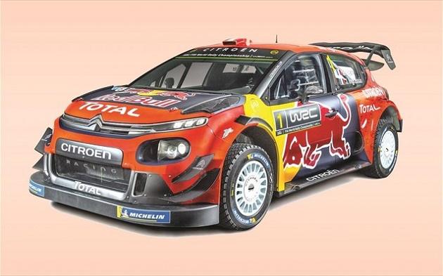 Η χρωματική παλέτα του C3 WRC