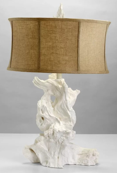White Driftwood Table Lamp