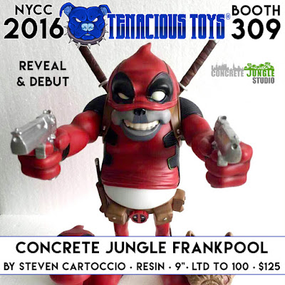 New York Comic Con 2016 Debut Red Edition Concrete Jungle Frankpool Resin Figure by Steven Cartoccio x Tenacious Toys