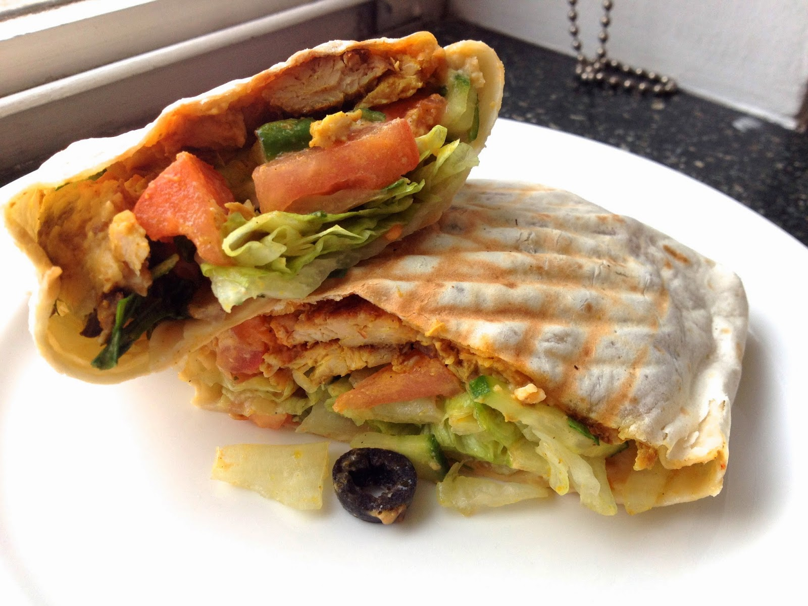 Moroccan chicken wrap, Café Le Midi | I Will Eat London
