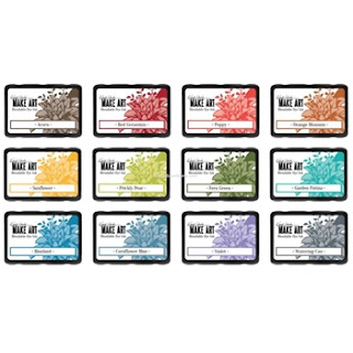 MAKE ART DYE INK PAD 12 SET