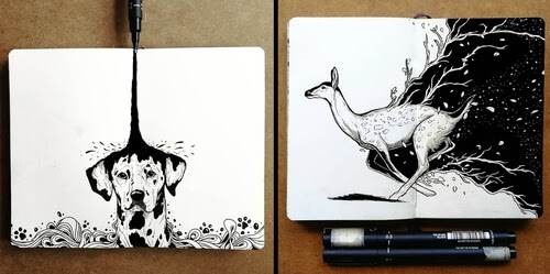 00-Bráulio-Monteiro-Moleskine-Pen-and-Ink-Animal-Illustrations-www-designstack-co