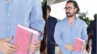 Aamir Khan with Mahabharat Book
