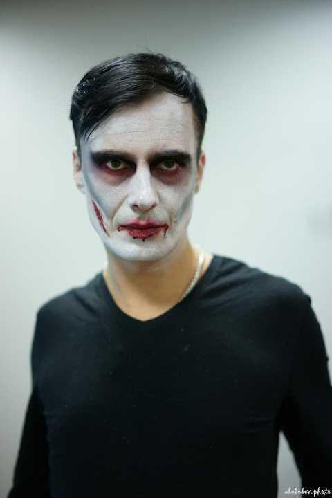 jocker, white face, zeiss 55mm, halloween_makeup_kiev, киев, грим, портрет