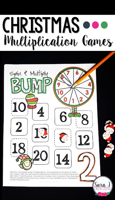 Christmas multiplication games for learning fun!