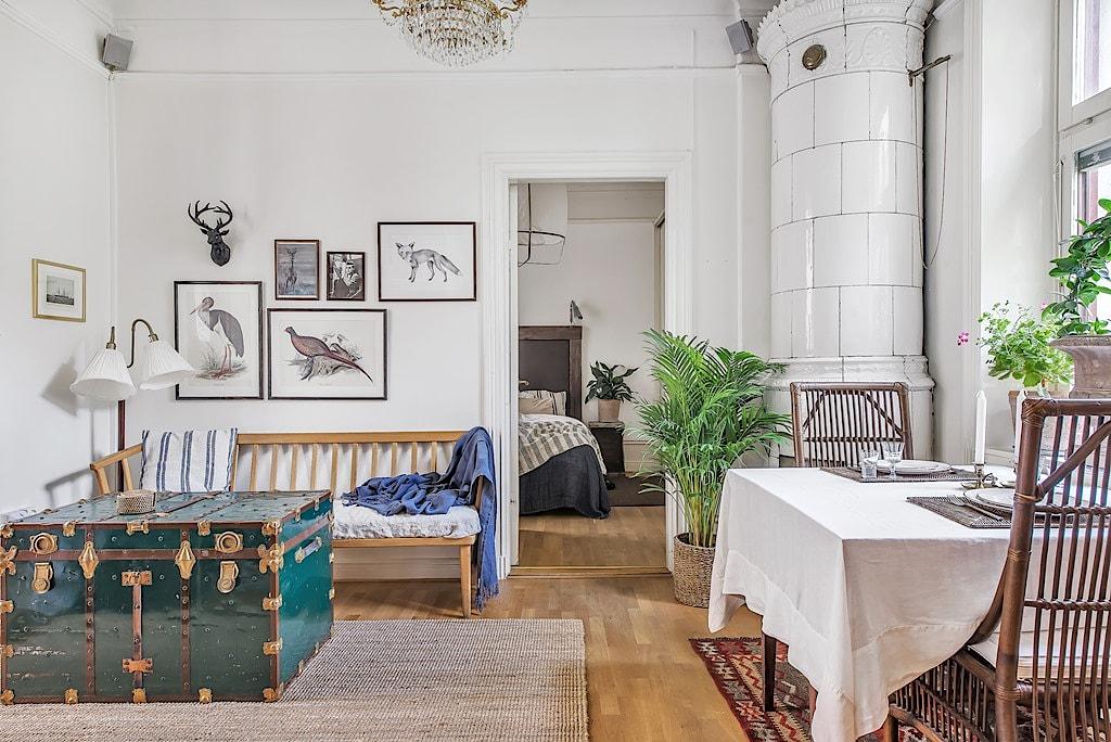 O frumoasă amenajare interioară pentru un apartament de numai 42 m²