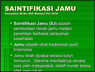 saintifikasi jamu, herbal, jamu