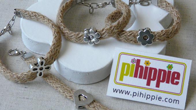 Regalos Comuniones pulseras hechas a mano personalizadas