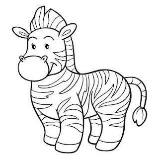 Printable Zebras Coloring Sheet For Kids