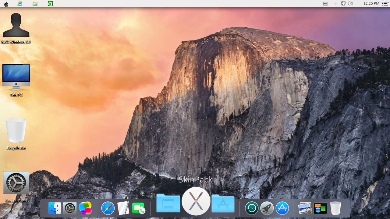 Mac OS X Yosemite Transformation Pack for Windows 7 / 8 / 8.1
