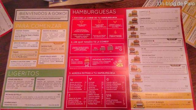 Goiko Grill Madrid, hamburguesas en el centro