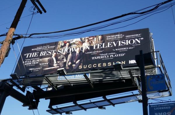 Succession season 1 FYC billboard