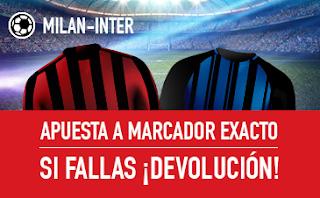 sportium promocion Milan vs Inter 4 marzo
