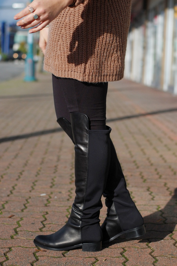 Le Chateau over-the-knee Made in Italy boots Vancouver blogger