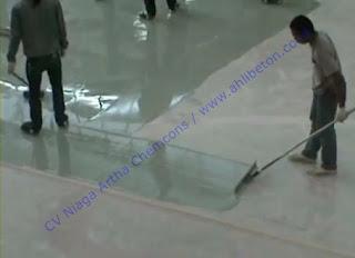 pekerjaan cat lantai