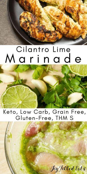 Keto/Low carb Cilantro Lime Chicken Marinade
