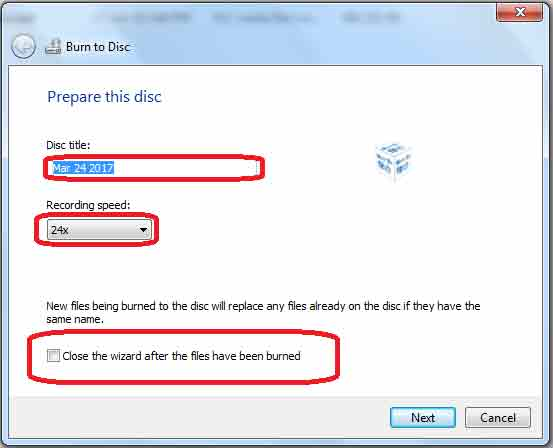 How to burn/write a cd/dvd in windows without using any