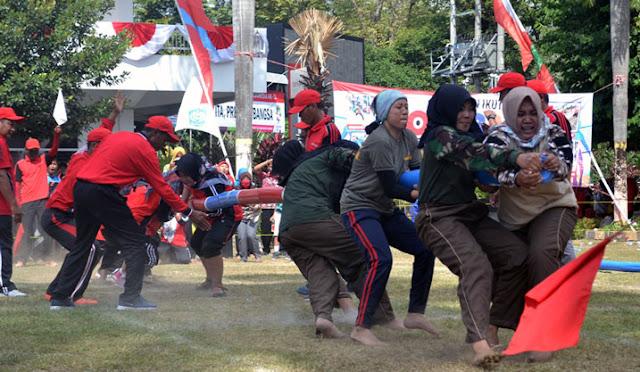 Pertandingan final dagongan di Pemkab Lumajang