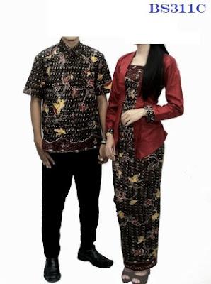 Model cantik baju couple motif batik elegan