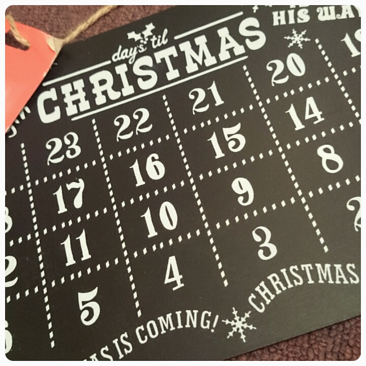 christmas advent chalk board