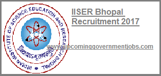 IISER bhopal recruitment 2017-2018