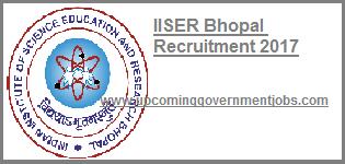 IISER bhopal recruitment 2017-2018