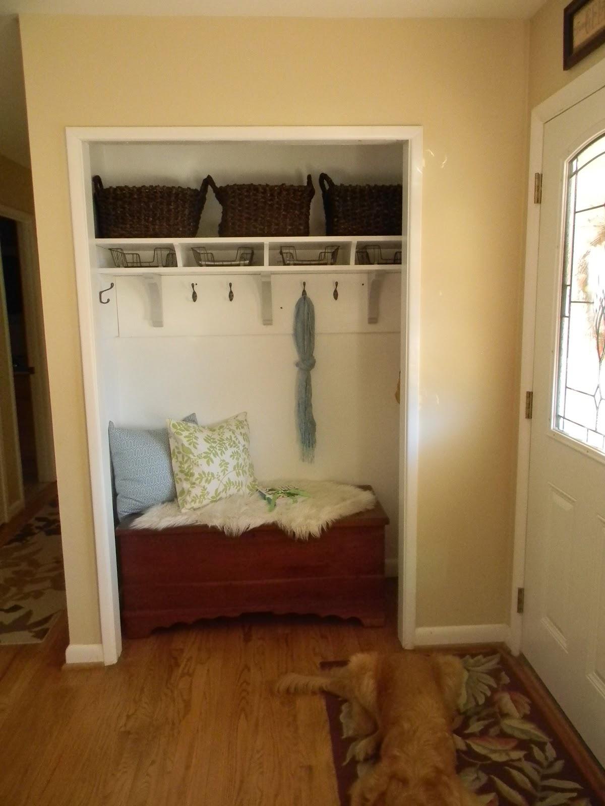The Diligent One Coat Closet To Mini Mudroom Phase I