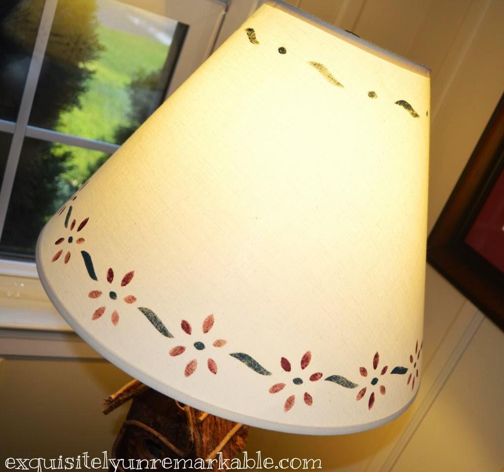Stencil a lampshade