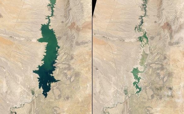 You Still Think Climate Change Is A Hoax These 20 Before-And-After Photos Will Leave You Speechless! - SHRINKING ELEPHANT BUTTE RESERVOIR, NEW MEXICO, 1994 AND 2013