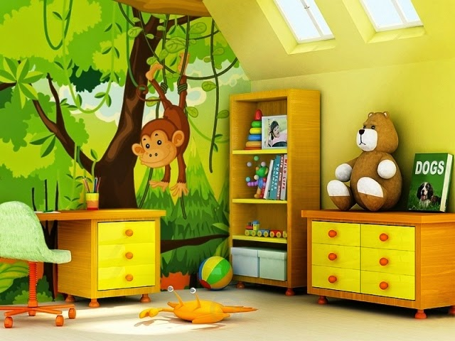 hand painted wall murals for children's rooms
