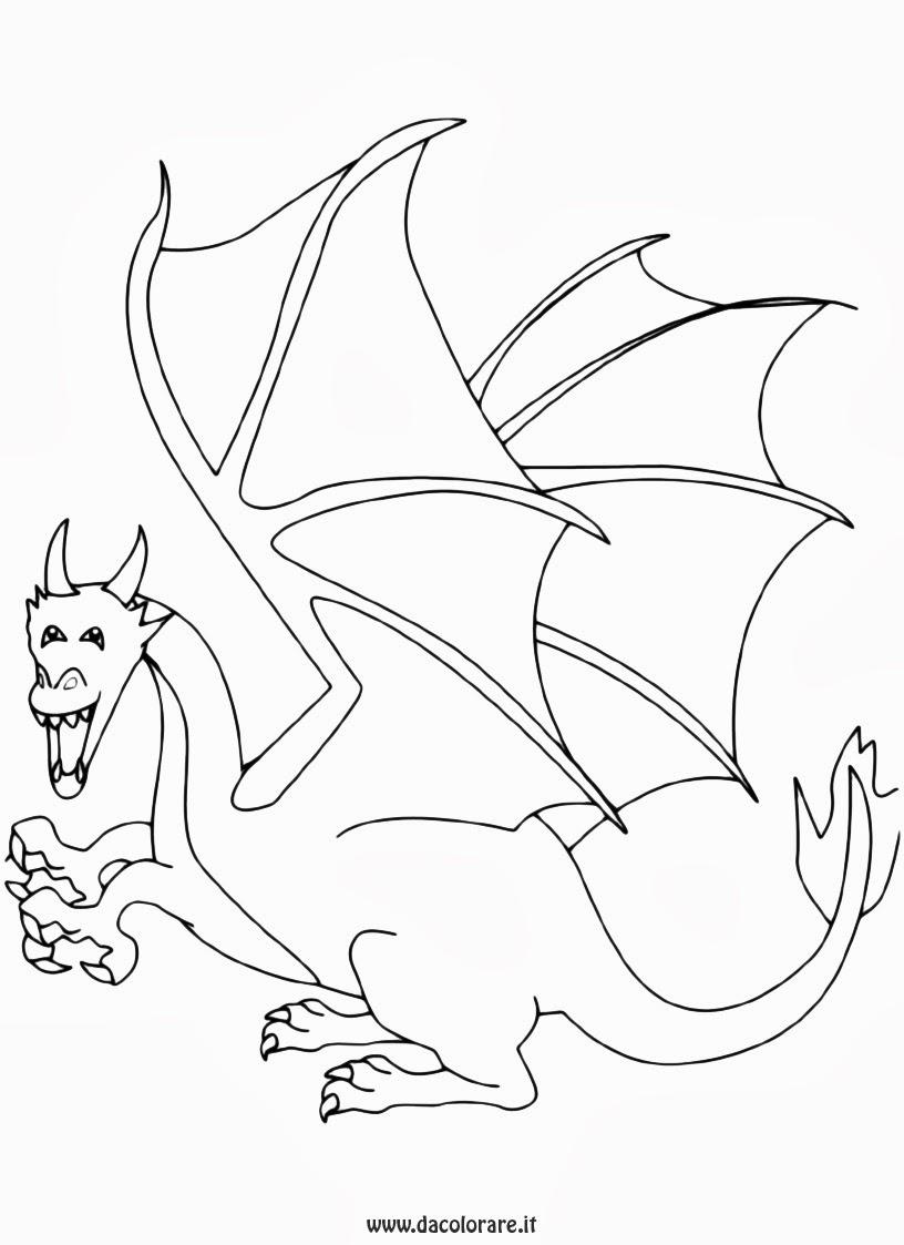 disegni da colorare draghi