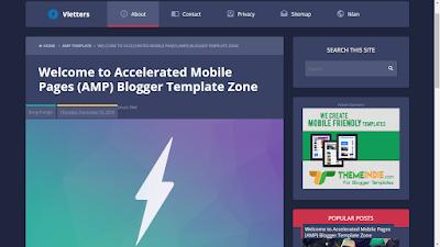 Vletters AMP Blogger template