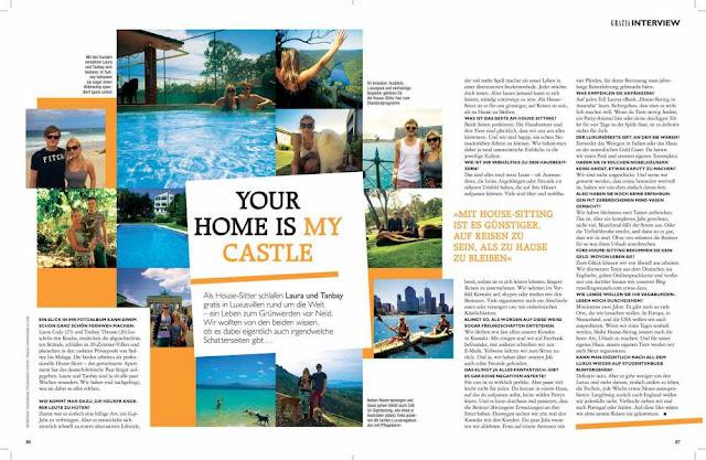 grazia magazine house sitting