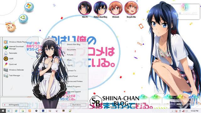 Windows 8/8.1 Theme Oregairu - Yukino and Yui by Enji Riz