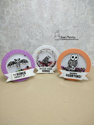 Halloween Shakers by Diane Morales| Spooky Skeletons Stamp Set by Newton's Nook Designs