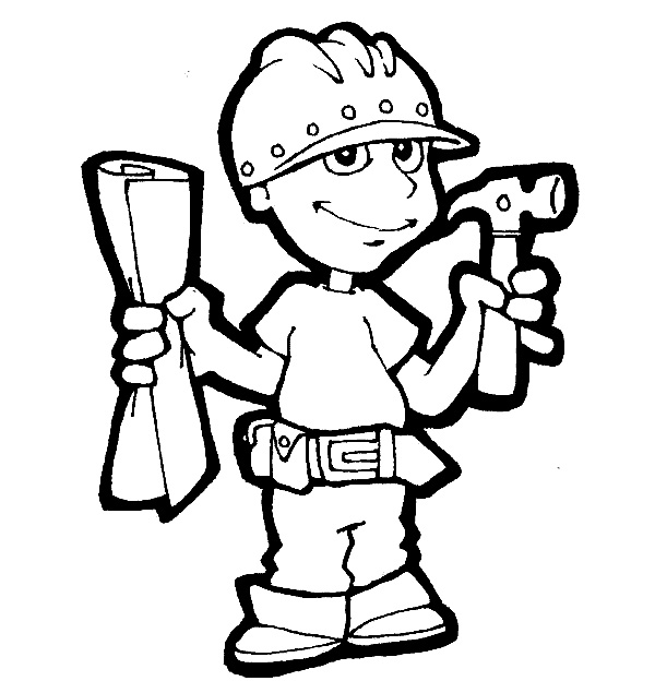 Family, People and Jobs Coloring Pages: Picture Various