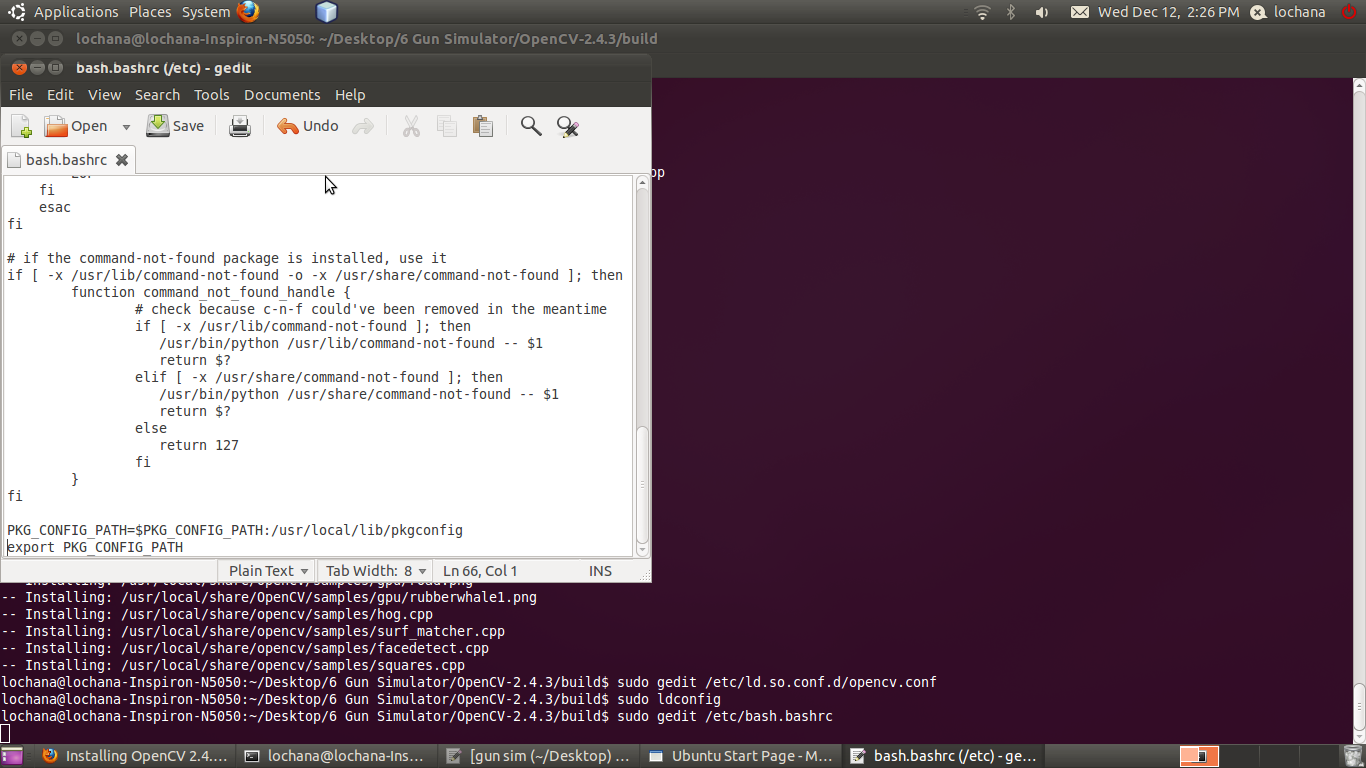 The Fingerprint in LINUX: Install Opencv 2 4 3 in Ubantu 10 10 or