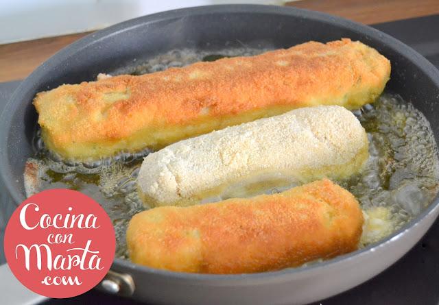 flamenquines caseros, receta flamenquin, receta para niños, rollitos de carne, jamón, queso, fácil, rápido, cocina con marta
