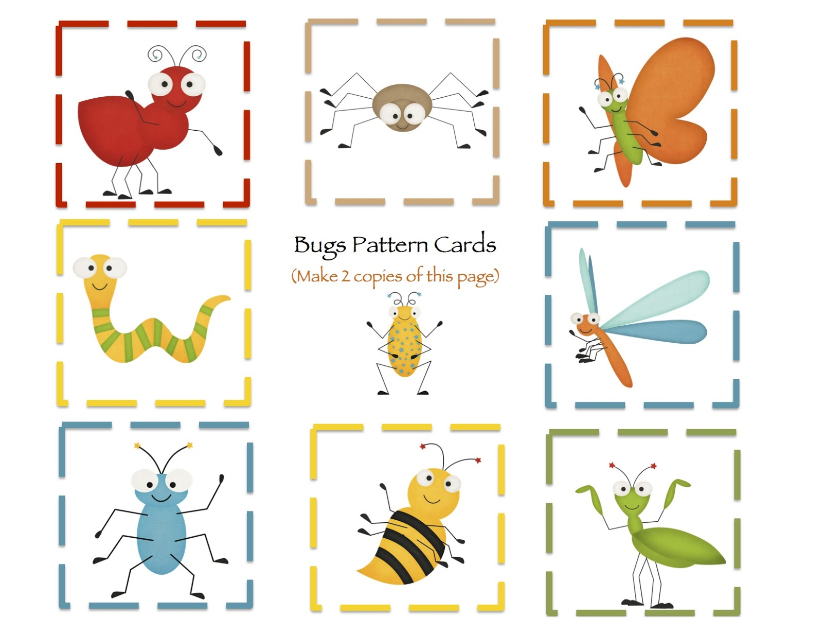 Worksheet Preschool Insect Theme