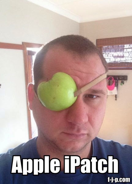 Funny Apple iPatch Eye Patch Joke Picture