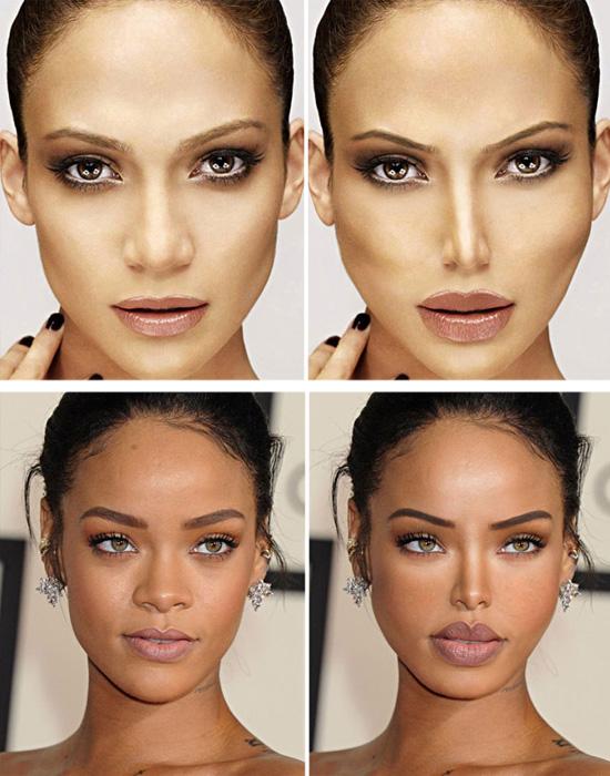 Plásticas - Jennifer Lopez e Rihanna