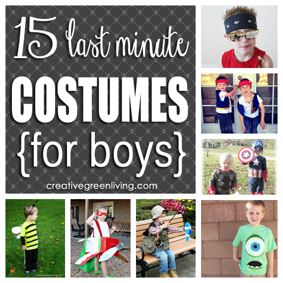 15 Last Minute Costumes for Boys that Won't Break the Bank - Creative Green Living